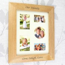 Personalised 8x10 Wooden Photo Frame P011130